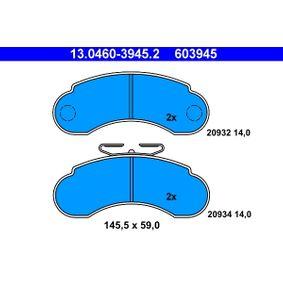 Kaufen Sie Bremsbelagsatz, Scheibenbremse 13.0460-3945.2 MERCEDES-BENZ 100 zum Tiefstpreis!