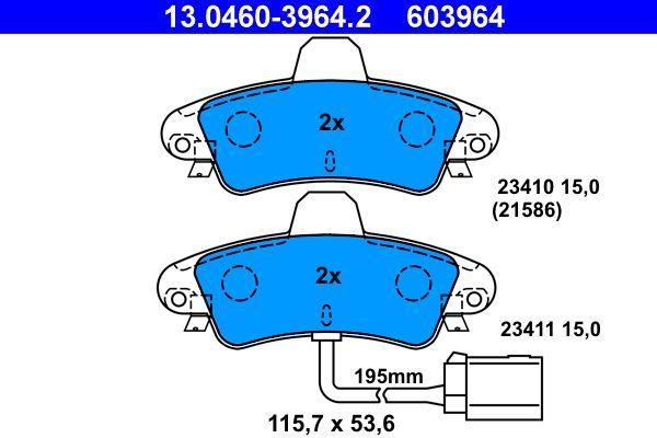 Bremsbelagsatz ATE 13.0460-3964.2