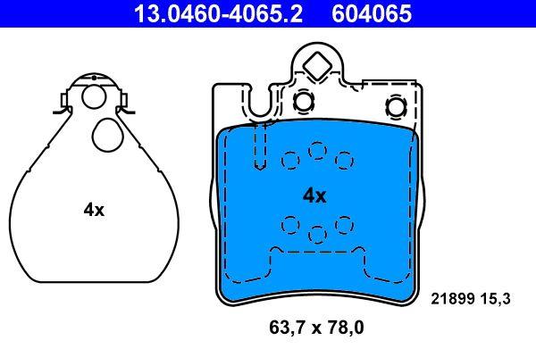 13.0460-4065.2 Bremsbelagsatz ATE - Markenprodukte billig