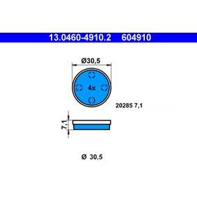 Kit de plaquettes de frein, frein à disque 13.0460-4910.2 CITROËN 2 CV à prix réduit — achetez maintenant!