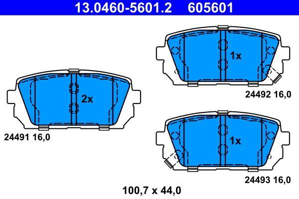 Sada brzdových platničiek kotúčovej brzdy ATE 13.0460-5601.2 Recenzií