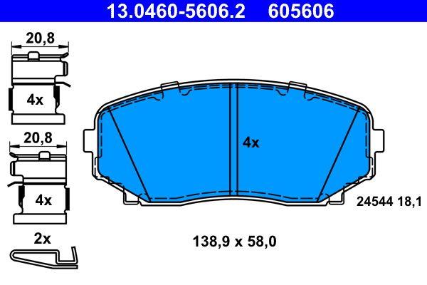 MAZDA CX-7 2009 Tuning - Original ATE 13.0460-5606.2 Höhe: 58,0mm, Breite: 138,9mm, Dicke/Stärke: 18,1mm