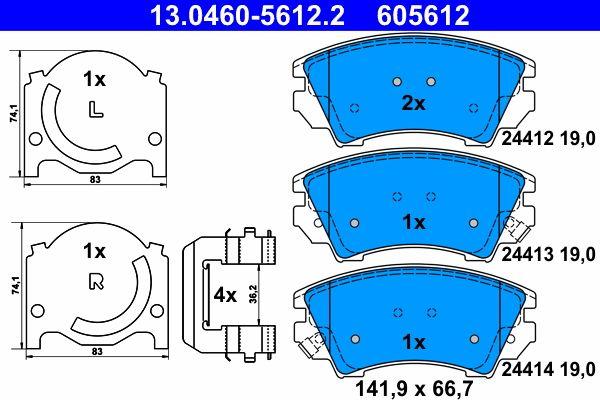 13.0460-5612.2 Bremsbelagsatz, Scheibenbremse ATE Test