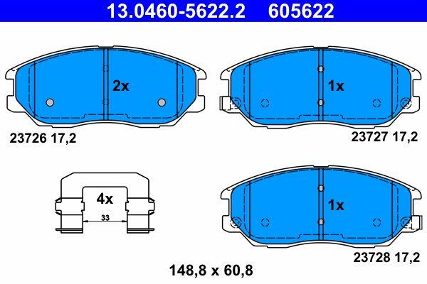 Original SSANGYONG Bremsbelagsatz 13.0460-5622.2