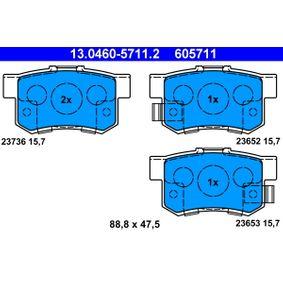 Günstige Bremsbelagsatz, Scheibenbremse mit Artikelnummer: 13.0460-5711.2 HONDA FR-V jetzt bestellen