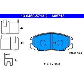 brake pad set, disc brake 13 0460-5713 2 with an exceptional ate  price-performance
