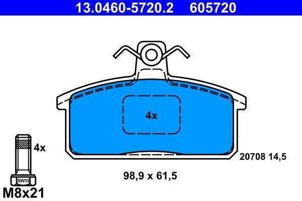 ATE Bremsbelagsatz, Scheibenbremse 13.0460-5720.2
