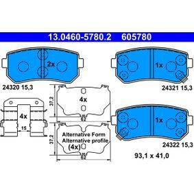 13.0460-5780.2 Bremsbelagsatz, Scheibenbremse ATE - Unsere Kunden empfehlen