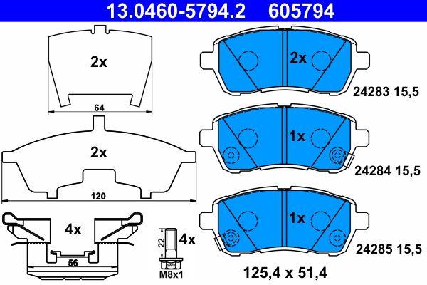 13.0460-5794.2 Bremsbelagsatz ATE - Markenprodukte billig