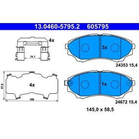 Brake Pad Set, disc brake 13.0460-5795.2 for MAZDA BT-50 at a discount — buy now!