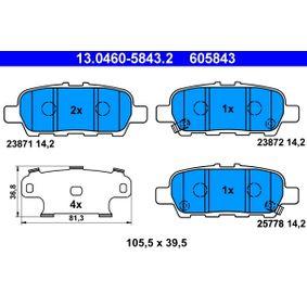 13.0460-5843.2 Bremsbelagsatz, Scheibenbremse ATE in Original Qualität