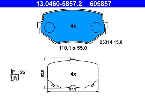 Bremsbelagsatz, Scheibenbremse ATE 13.0460-5857.2 Bewertungen