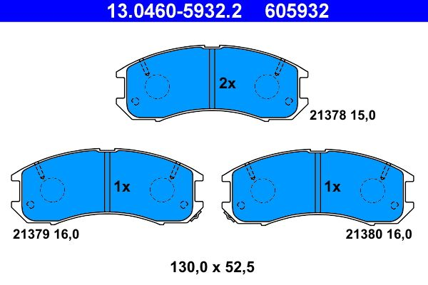 Original FORD USA Bremsbelagsatz 13.0460-5932.2