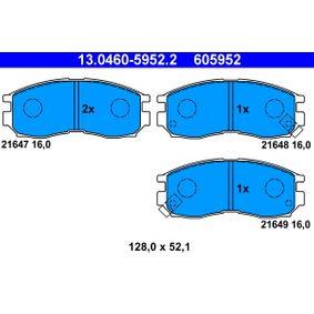 Sada brzdových platničiek kotúčovej brzdy 13.0460-5952.2 MITSUBISHI SANTAMO v zľave – kupujte hneď!