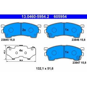 Brake Pad Set, disc brake 13.0460-5954.2 for MAZDA XEDOS at a discount — buy now!