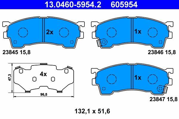 Original FORD USA Bremsbelagsatz Scheibenbremse 13.0460-5954.2