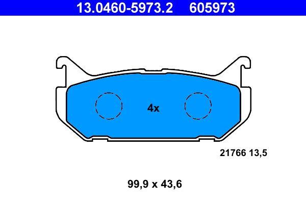 Original FORD USA Bremssteine 13.0460-5973.2