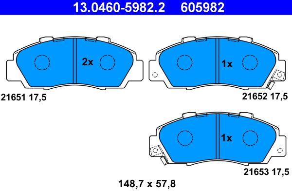 Kit pastiglie freno Honda CR-V mk1 ac 2001 13.0460-5982.2