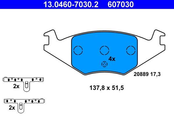 13.0460-7030.2 Bremssteine ATE in Original Qualität