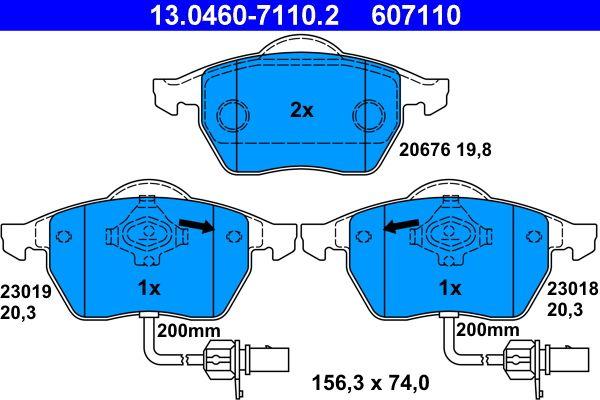 Bremseklodser ATE 13.0460-7110.2 Anmeldelser