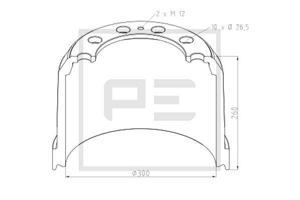 Køb PETERS ENNEPETAL Bremsetromle 326.006-00A lastbiler