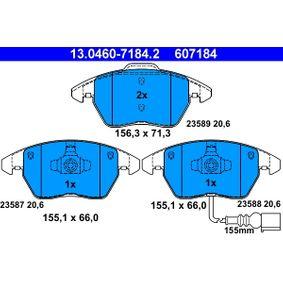 13.0460-7184.2 Zestaw klocków hamulcowych, hamulce tarczowe ATE - Doświadczenie w niskich cenach