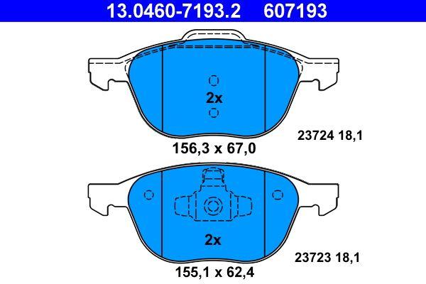 13.0460-7193.2 Bremsbelagsatz ATE - Markenprodukte billig