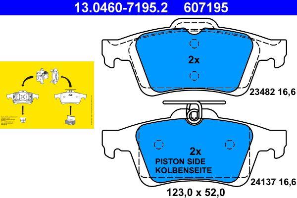 13046071952 Bremsbeläge ATE 24137 - Große Auswahl - stark reduziert