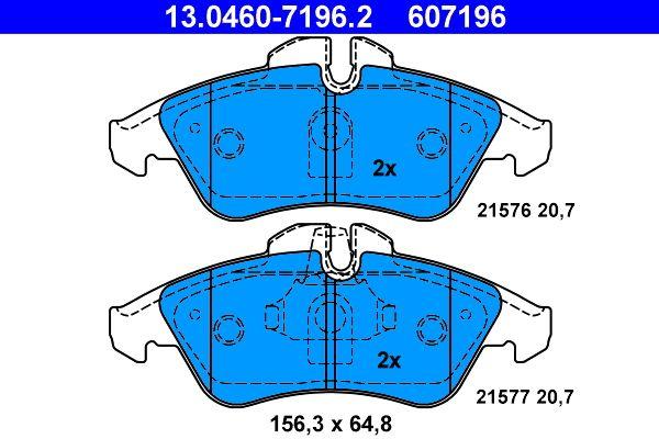 13.0460-7196.2 Bremsbelagsatz ATE - Markenprodukte billig