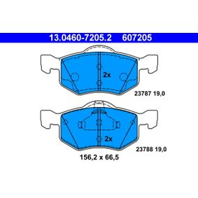 Brake Pad Set, disc brake 13.0460-7205.2 for MAZDA TRIBUTE at a discount — buy now!