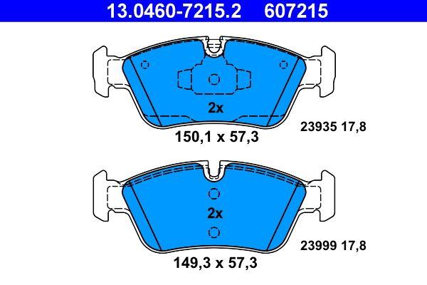 Bremsbelagsatz, Scheibenbremse 13.0460-7215.2 von ATE