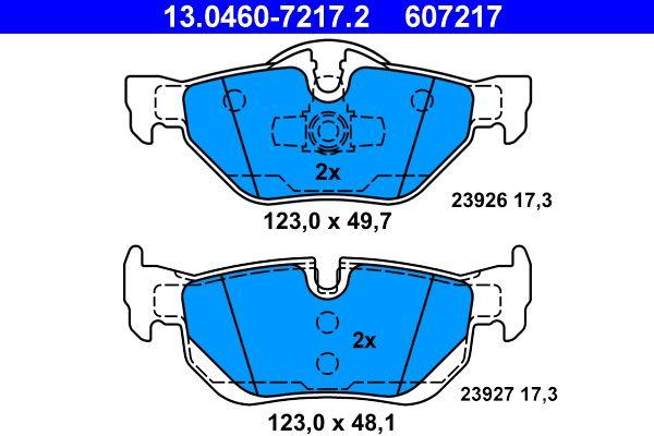 13046072172 Bremsbeläge ATE 23927 - Große Auswahl - stark reduziert