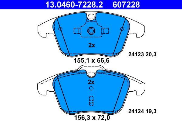 13.0460-7228.2 Bremssteine ATE in Original Qualität