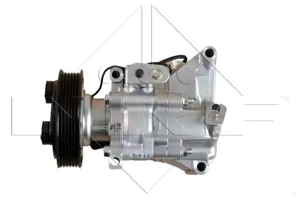 Køb 32687 NRF PAG 46, Kältemittel: R 134a, med PAG-kompressorolie, EASY FIT Riemenscheiben-Ø: 116mm, Anzahl der Rillen: 6 Kompressor, klimaanlæg 32687 billige