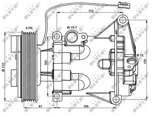 32687 Kompressor Klimaanlæg NRF - Billige mærke produkter