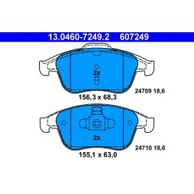 Komplet zavornih oblog, ploscne (kolutne) zavore 13.0460-7249.2 za RENAULT MEGANE III Grandtour (KZ0/1) - prihrani več zdaj!