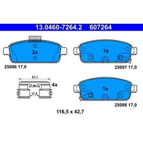 13.0460-7264.2 Bremsbelagsatz, Scheibenbremse ATE in Original Qualität