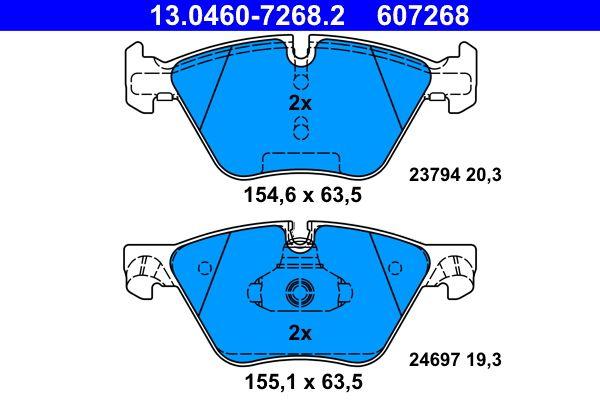 Kit de plaquettes de frein, frein à disque ATE 13.0460-7268.2 Avis