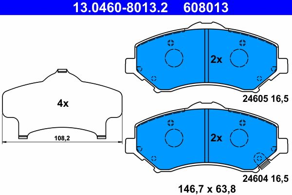 Original JEEP Bremssteine 13.0460-8013.2