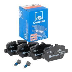 23624 ATE Ceramic für Verschleißwarnanzeiger vorbereitet, exkl. Verschleißwarnkontakt, mit Bremssattelschrauben, mit Zubehör Höhe 1: 51,0mm, Höhe 2: 44,6mm, Breite 1: 95,2mm, Dicke/Stärke: 17,4mm Bremsbelagsatz, Scheibenbremse 13.0470-2713.2 günstig kaufen