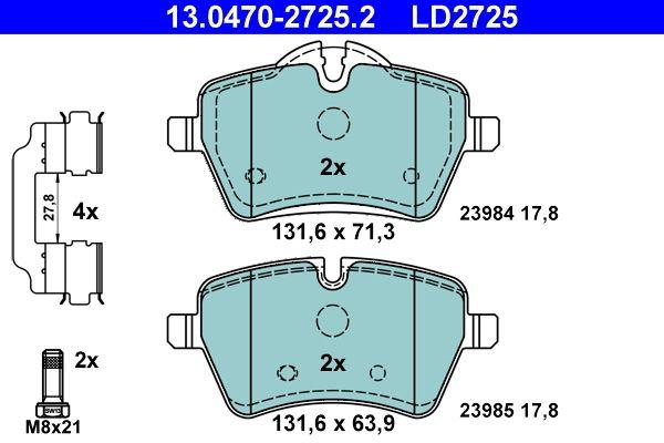 Bremsbelagsatz ATE 13.0470-2725.2