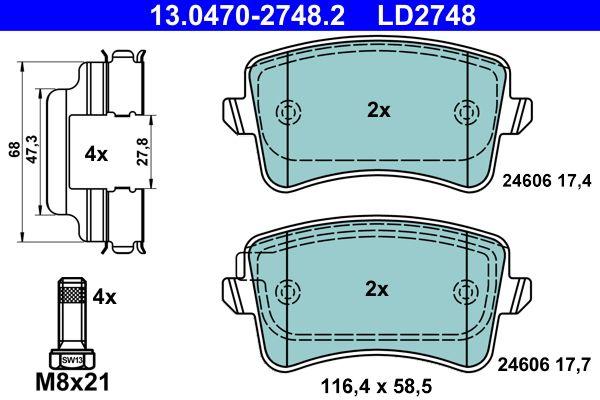 13.0470-2748.2 Bremssteine ATE in Original Qualität