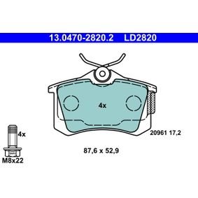 13.0470-2820.2 Bremsbelagsatz, Scheibenbremse ATE in Original Qualität