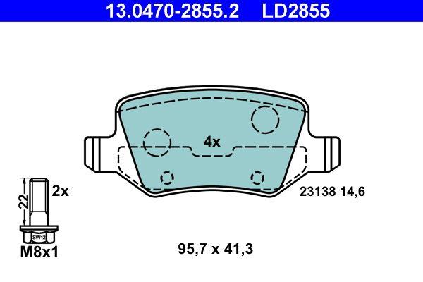 Bremsbelagsatz ATE 13.0470-2855.2