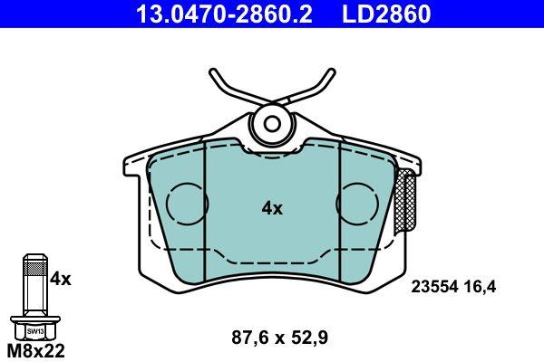13.0470-2860.2 Bremsbelagsatz ATE - Markenprodukte billig