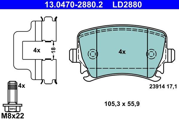 13.0470-2880.2 Bremsbelagsatz ATE - Markenprodukte billig