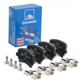 LD2880 ATE Ceramic für Verschleißwarnanzeiger vorbereitet, exkl. Verschleißwarnkontakt, mit Bremssattelschrauben, mit Zubehör Höhe: 55,9mm, Breite: 105,3mm, Dicke/Stärke: 17,1mm Bremsbelagsatz, Scheibenbremse 13.0470-2880.2 günstig kaufen