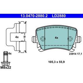 13.0470-2880.2 Bremsbelagsatz, Scheibenbremse ATE - Markenprodukte billig