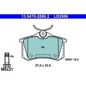 13.0470-2886.2 Bremsbelagsatz, Scheibenbremse ATE in Original Qualität