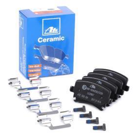 23914 ATE Ceramic für Verschleißwarnanzeiger vorbereitet, exkl. Verschleißwarnkontakt, mit Bremssattelschrauben, mit Zubehör Höhe: 55,9mm, Breite: 105,3mm, Dicke/Stärke: 17,1mm Bremsbelagsatz, Scheibenbremse 13.0470-2887.2 günstig kaufen